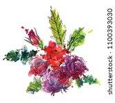 vintage vector floral... | Shutterstock .eps vector #1100393030