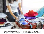 travel and vacation concept ... | Shutterstock . vector #1100395280