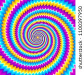 colorful spirals. optical...   Shutterstock .eps vector #1100397950