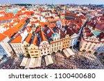 prague  czech republic   old... | Shutterstock . vector #1100400680