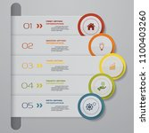 abstract infographics 5 steps... | Shutterstock .eps vector #1100403260