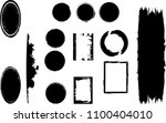 hand drawn scribble symbols... | Shutterstock .eps vector #1100404010