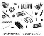 hand drawn grunge pencil...   Shutterstock .eps vector #1100412710