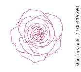 linear graphic art of rose... | Shutterstock . vector #1100419790