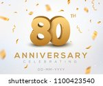 80 anniversary gold numbers... | Shutterstock .eps vector #1100423540