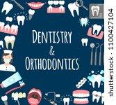 dentistry and orthodontics... | Shutterstock .eps vector #1100427104