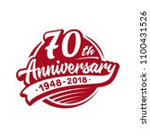 70 years anniversary design... | Shutterstock .eps vector #1100431526