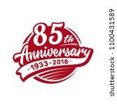 85 years anniversary design... | Shutterstock .eps vector #1100431589