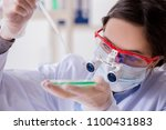 lab assistant in drug synthesis ... | Shutterstock . vector #1100431883