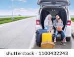 happy family ready for a road...   Shutterstock . vector #1100432243