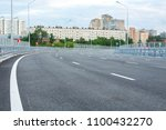 view from an empty road... | Shutterstock . vector #1100432270