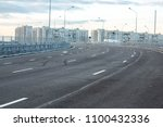 view from an empty road... | Shutterstock . vector #1100432336