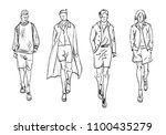 fashion man. set of fashionable ... | Shutterstock .eps vector #1100435279