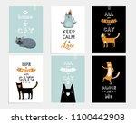vector set of motivating... | Shutterstock .eps vector #1100442908