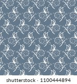 seamless background with... | Shutterstock . vector #1100444894