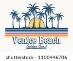 venice beach theme vintage... | Shutterstock .eps vector #1100446706