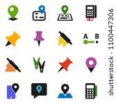 solid vector icon set  ... | Shutterstock .eps vector #1100447306