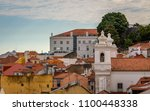 lisbon  portugal cityscape at... | Shutterstock . vector #1100448338