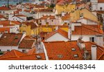 lisbon  portugal cityscape at... | Shutterstock . vector #1100448344
