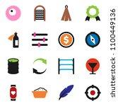 solid vector icon set   foam...   Shutterstock .eps vector #1100449136