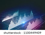 abstract glowing forex chart... | Shutterstock . vector #1100449409