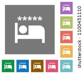 luxury hotel flat icons on... | Shutterstock .eps vector #1100451110