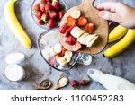 ingredients for making...   Shutterstock . vector #1100452283