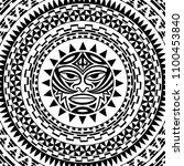 circular pattern in form of... | Shutterstock .eps vector #1100453840