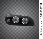 realistic car headlight...   Shutterstock .eps vector #1100454200