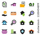 solid vector ixon set   house... | Shutterstock .eps vector #1100454899