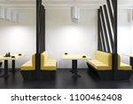 yellow sofas diner interior... | Shutterstock . vector #1100462408
