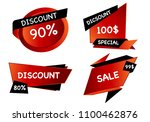 summer sale set isolated vector ... | Shutterstock .eps vector #1100462876