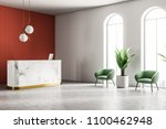 marble reception with a... | Shutterstock . vector #1100462948