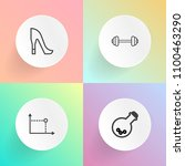 modern  simple vector icon set... | Shutterstock .eps vector #1100463290
