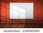 empty mockup billboard on red... | Shutterstock .eps vector #1100465564