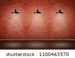 interior of red brick wall with ... | Shutterstock .eps vector #1100465570