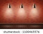 interior of red brick wall with ... | Shutterstock .eps vector #1100465576
