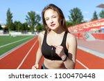 portrait of a beautiful female... | Shutterstock . vector #1100470448