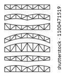 steel metal trusses. designs... | Shutterstock .eps vector #1100471519