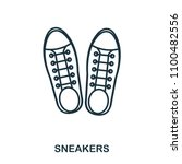 sneakers icon. flat style icon...
