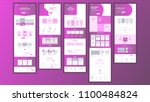 website template vector. page... | Shutterstock .eps vector #1100484824