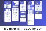 website template vector. page... | Shutterstock .eps vector #1100484839