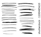 collection of hand drawn pencil ... | Shutterstock .eps vector #1100485610