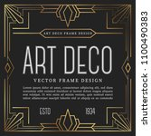 luxury vintage frame art deco... | Shutterstock .eps vector #1100490383