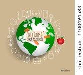 welcome back to school  vector... | Shutterstock .eps vector #1100494583