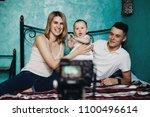 blogging  social media  mother... | Shutterstock . vector #1100496614