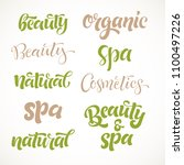 vector handwritten lettering... | Shutterstock .eps vector #1100497226