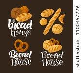 vector handwritten lettering... | Shutterstock .eps vector #1100497229
