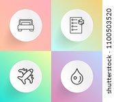 modern  simple vector icon set... | Shutterstock .eps vector #1100503520