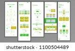 website page vector. business... | Shutterstock .eps vector #1100504489